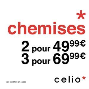 CELIO // OFFRE CHEMISES